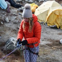 À propos de l'alpiniste au féminin